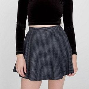 American Apparel houndstooth circle skirt - L